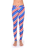 Women's Patriotic USA Stars & Stripes Leggings