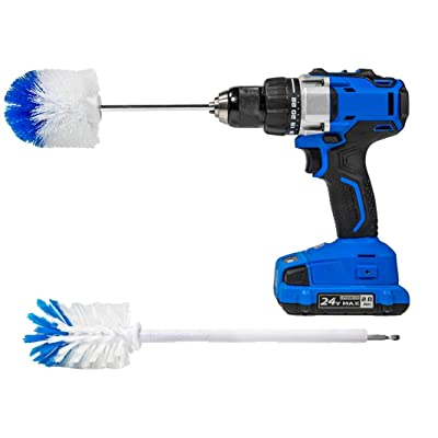 RotoScrub 2 Drill Brush Kit - Extended Reach Wheel Brush with Heavy Duty Bristles + Super Extended Long Wheel Brush with Soft Bristles: Health & Personal Care