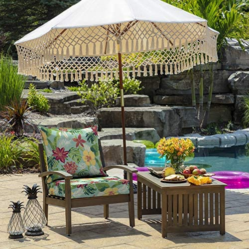 Arden Selections 24 x 24 Elea Tropical 2-Piece Deep Seating Outdoor Lounge Chair Cushion