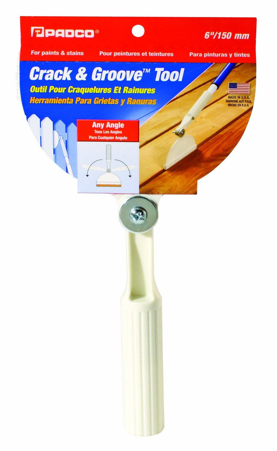 Padco 3737 6-Inch Any Angle Crack and Groove Tool