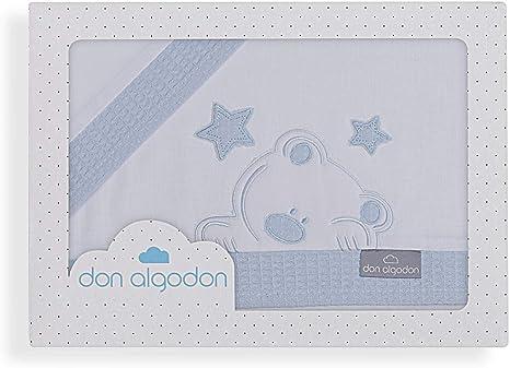 Don Algodón Sábanas Cuna Viggo Blanco Azul: Amazon.es: Bebé