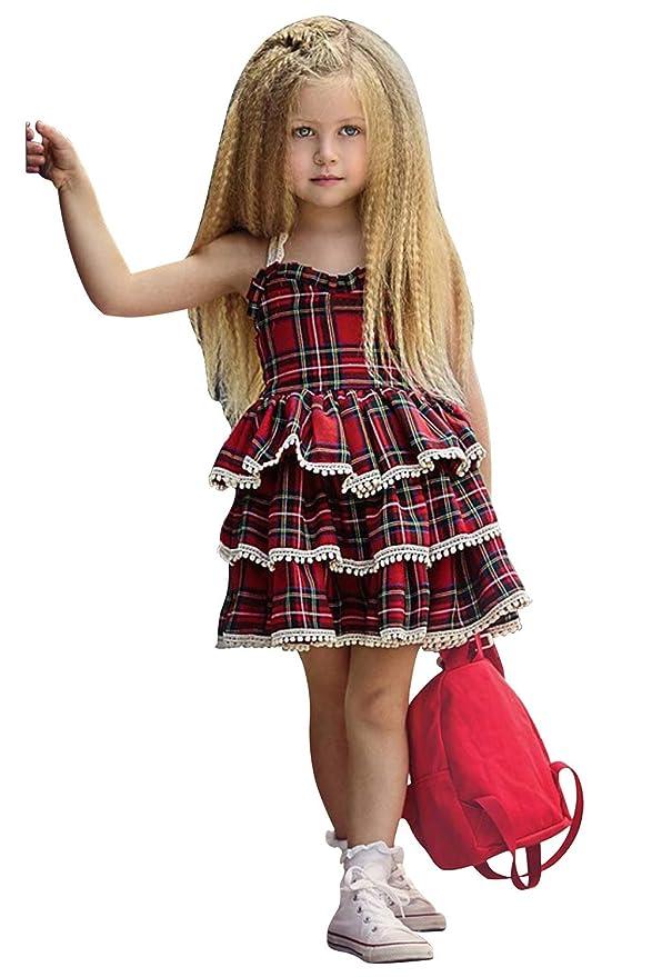 Amazon.com: Vestido de plisado para niñas, vestido de fiesta ...