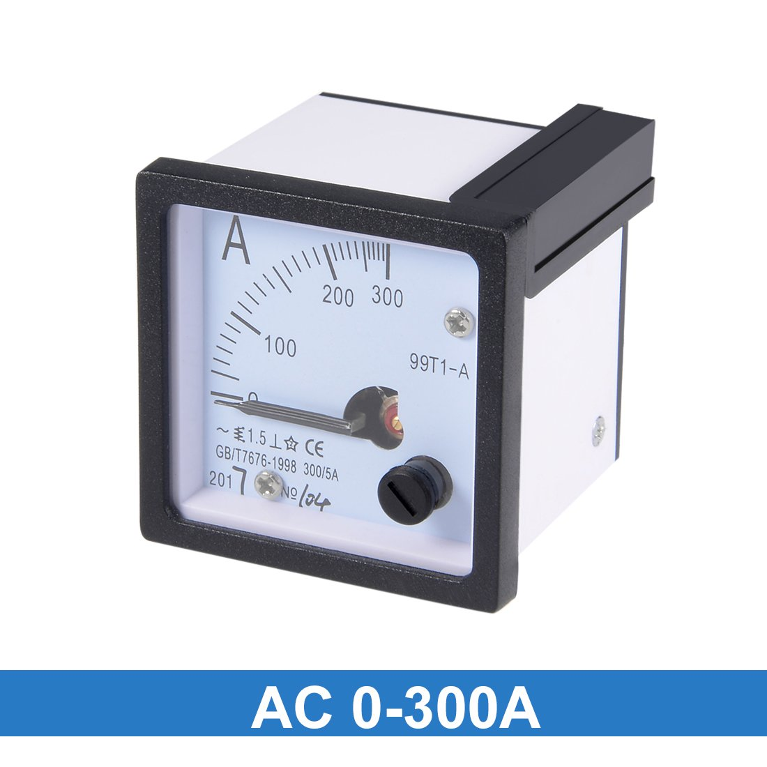 sourcingmap AC 0-300A Analog Panel Ammeter Gauge Ampere Current Meter 99T1-A 1.5/% Tolerance