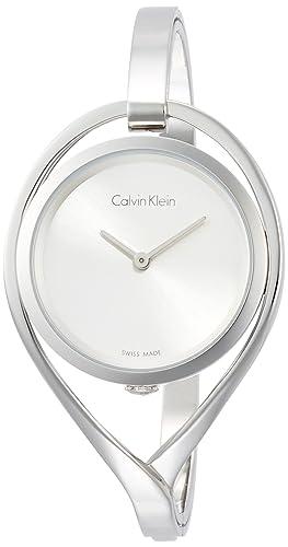 Calvin Klein Reloj Analogico para Mujer de Cuarzo con Correa en Acero Inoxidable K6L2M116: Amazon.es: Relojes