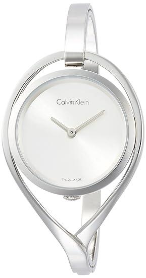 Calvin Klein Reloj Analogico para Mujer de Cuarzo con Correa en Acero Inoxidable K6L2M116