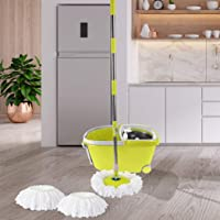 360° Spin Mop Bucket Set Spinning Stainless Steel Rotating Wet Dry Green Green