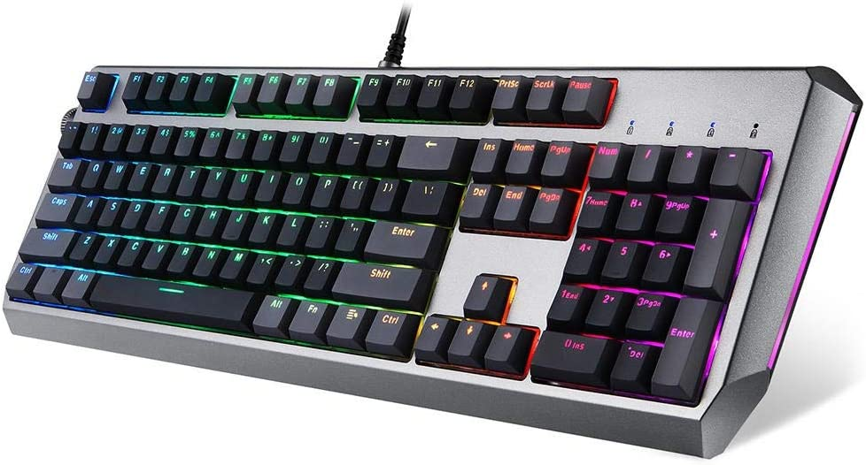 Color : Ptoto Color, Size : Golden Switch Sunsamy Gaming Mechanical Keyboard PC Gaming Keyboards,104Key USB Wired RGB Backlight Original Mechanical Gaming Keyboard
