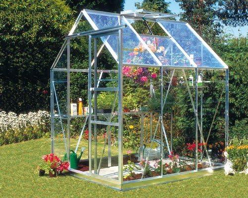 Eden Halls invernaderos Ltd Eden Condesa 56 – aluminio invernadero: vidrio – 6 mm de policarbonato: Amazon.es: Jardín