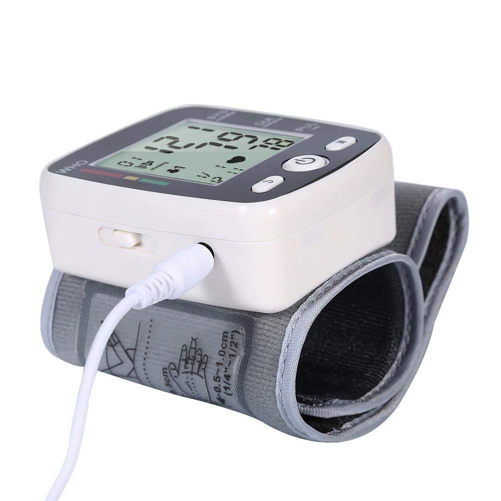 LiféUP Tensiómetro De Brazo Electrónico Voz En Inglés Medición De Frecuencia Cardíaca Frecuencia Cardíaca Pulso Monitor De Presión Arterial Carga Rápida USB ...