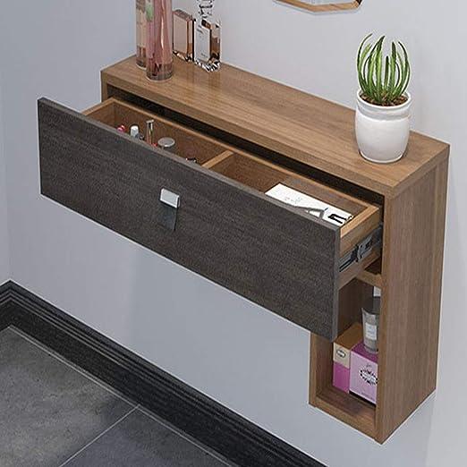 SXFYZCY Minimalista Moderno Mueble de TV Dormitorio Económico Dormitorio de Madera Maciza Multifuncional Mini Espejo de Pared Simple: Amazon.es: Hogar