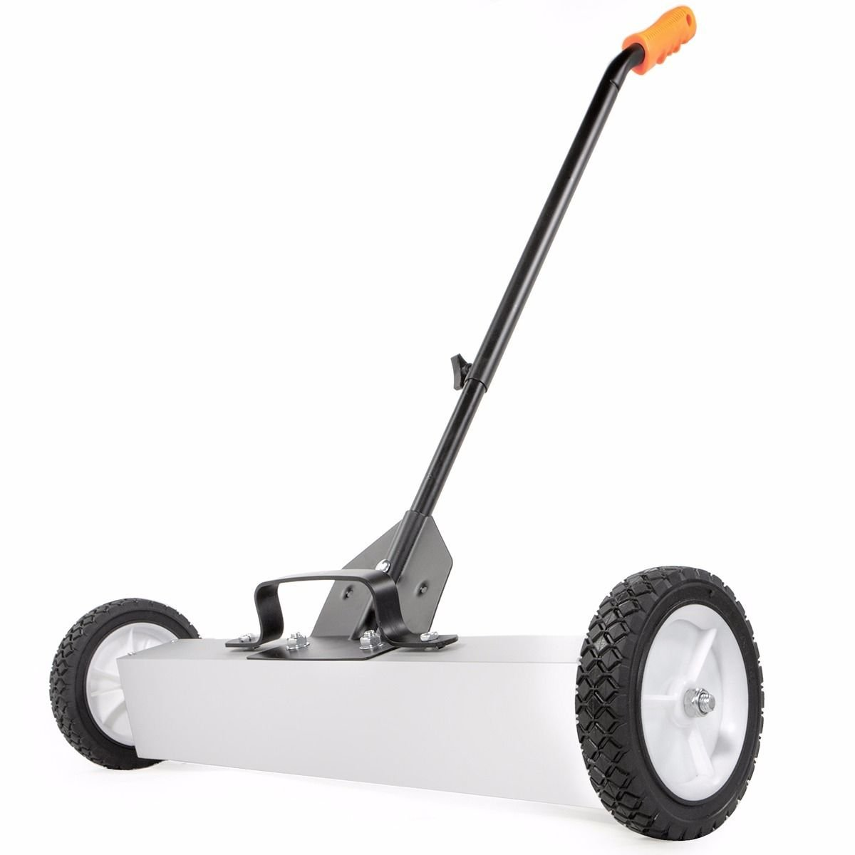 Capacity 30 Pounds 24'' Rolling Magnetic Sweeper w/ Adjustable Sweeping Height