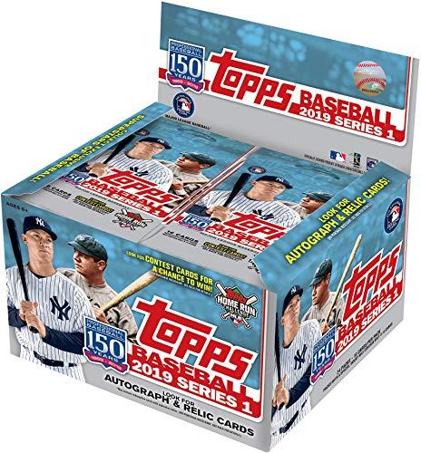 2019 Topps Baseball Series 1 Factory Sealed 24 Pack Retail Box - Baseball Wax Packs ()