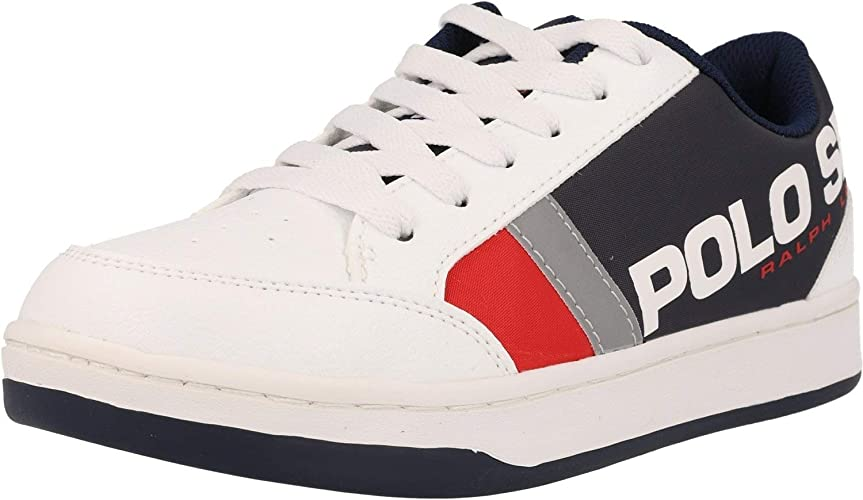 Polo Ralph Lauren Belden Blanco/Armada/Rojo Cayó Jóvenes ...