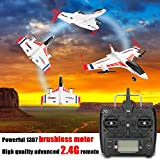 Hisoul XK X520 Glider 2.4G 6CH Switchable 3D/6G Mode Vertical Takeoff Land Delta Wing RC Airplane for Stabilized Flight Easy for Beginner - Shipped from USA (White)