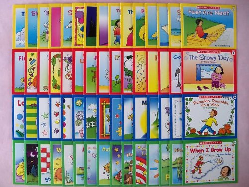 60 Scholastic Little Leveled Readers Learn to Read Preschool Kindergarten First Grade Children's Book Lot (15 Books Each in Levels A, B, C, and D) (Readers Leveled Little Scholastic)