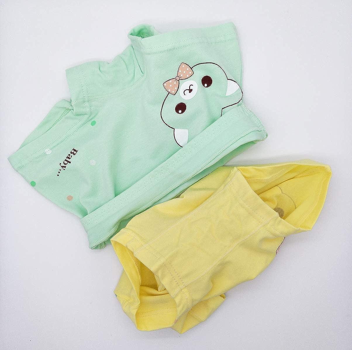 Qrity 5 Pacchi Kid Mutandine Culotte in Cotone per Ragazza Mutande di Cotone Bambina Ragazza Shorty Intimo 3 a 8 Anni