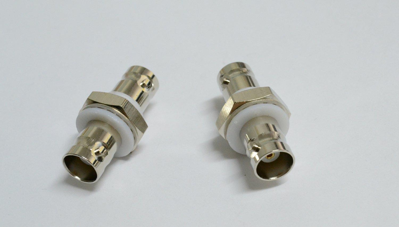 10 pack BNC Female Jack Bulkhead to BNC Female Jack Insulated RF Coax Adapter