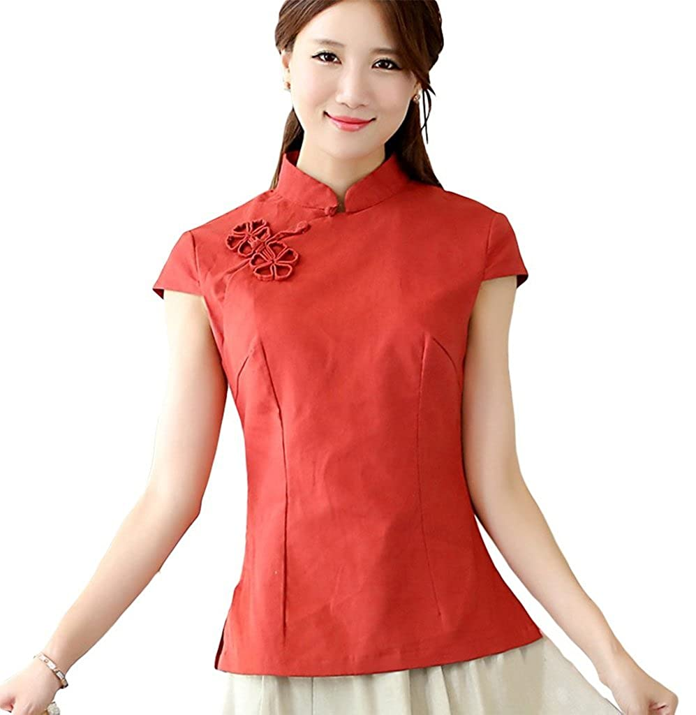 Shanghai Story Chinese Oriental Cap Sleeve Tang Qipao Top Blouse CTN0000056