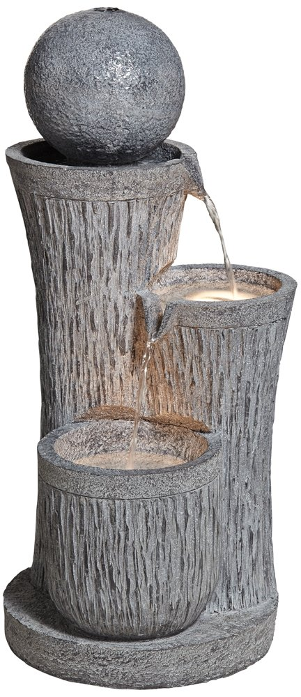 Trilage Tiered 34'' High Indoor/Outdoor Floor Fountain