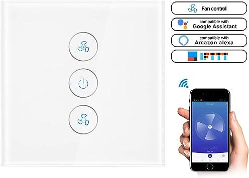 WiFi Deckenventilator Schalter Smart Lüfter Zeitschaltuhr Lichtschalter Alexa DE