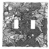 Wendell August Autumn Double Switch Plate Cover, Aluminum