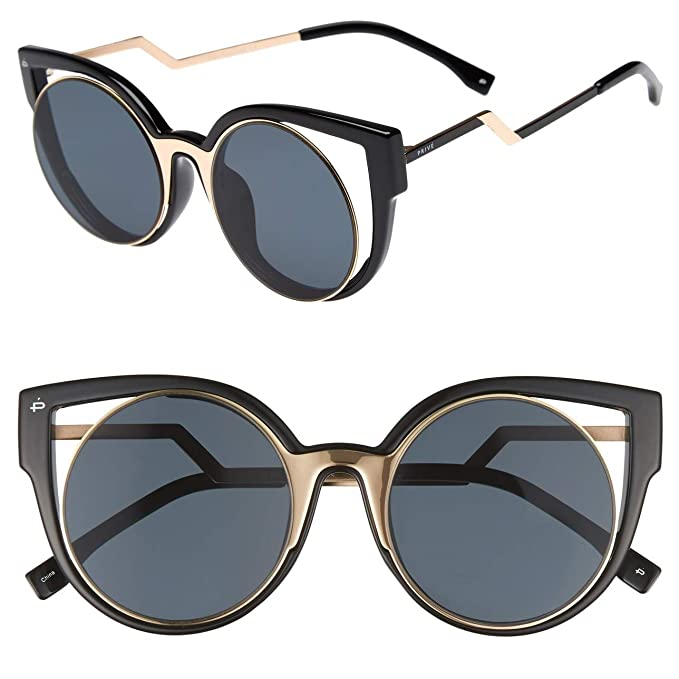 Amazon.com: PRIVÉ REVAUX - Gafas de sol redondas ...