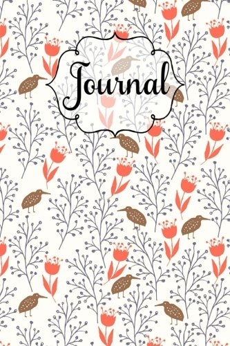 Kiwi Birds and Flowers 6 x 9 Lined Journal: 130 Pages, Softcover Notebook, Lined Paper with Margin ()