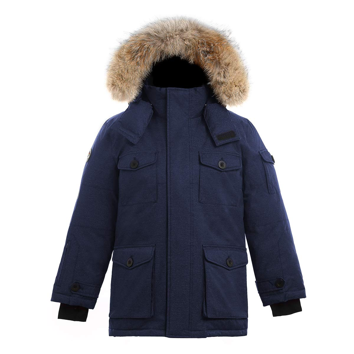 Triple F.A.T. Goose SAGA Collection | Eldridge Boys Parka Jacket (12/14, Navy)