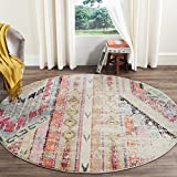 Safavieh Monaco Collection MNC222F Modern Bohemian Multicolored Distressed...