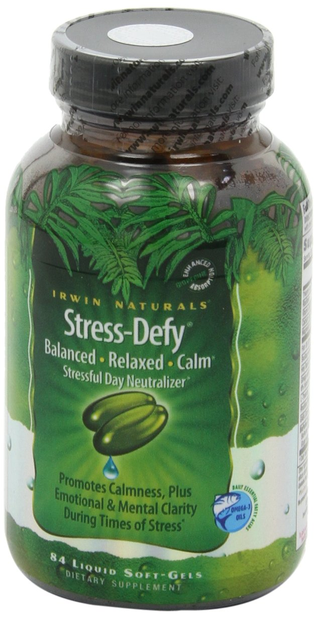 Irwin Naturals Stress-Defy, Balanced Relaxed Calm, Stressful Day Neutralizer, 84 Liquid Softgels by Irwin Naturals (Image #9)