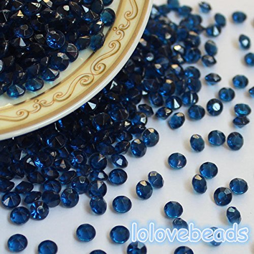 CYNDIE decoration 4.5mm Navy Blue Acrylic Diamond Confetti Wedding Party Decor Table Scatters 2000pcs