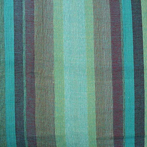 India Arts Hand Loom 100 Cotton Striped Tablecloth Tapestry Throw Thin Bedspread Full, Green