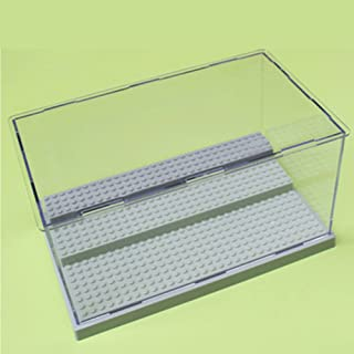 Leoie Dust-Proof Transparent Display Box 3-Layer Removable Acrylic Steps for Assembly Toys Desktop Ornament Gray Large Particles