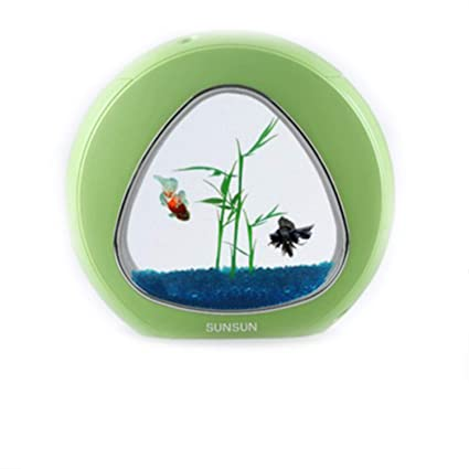 Super Pecera Mini De Moda Filtro De Iluminación De Circulación De Agua USB Regalo,Green