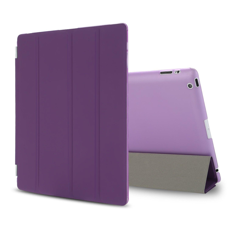 [Besdata(ベスデータ)]iPad 2/3/4 スマートカバー(Smart Cover) スタンド仕様 自動スリープウェイク フレーム着脱可 液晶保護フィルム付き(パープル)   B00CB7T52O
