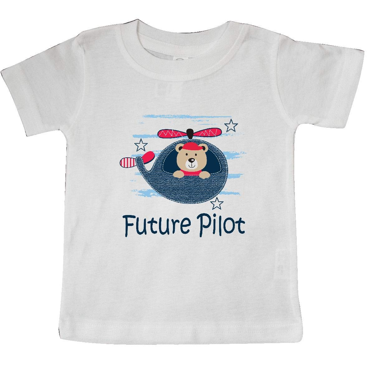 inktastic Future Pilot Helicopter Bear Baby T-Shirt