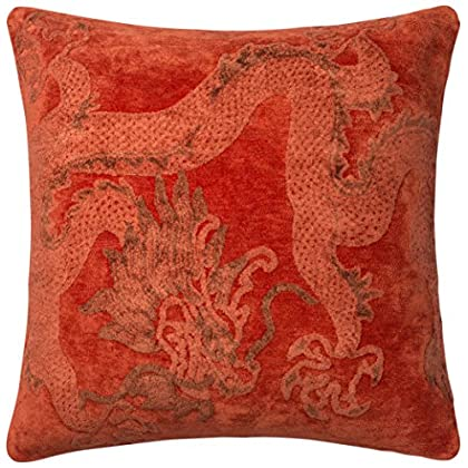 Image of Loloi Loloi-PSETGPI08CD00PIL9-Chili Decorative Accent Pillow-100% Viscose Cover with Poly Fill 2'-2' x 2'-2', 2'-2' x 2'-2' Home and Kitchen