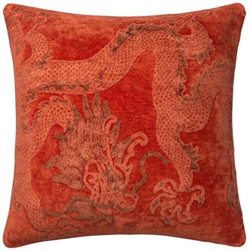 "Loloi GPI08 Loloi-DSETGPI08CD00PIL9-Chili Decorative 100% Viscose Accent Pillow with Down Fill- 2'-2"" x 2'-2"", 2'-2"" x 2'-2"""
