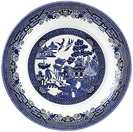 Churchill Blue Willow Fine China Earthenware Pasta Dish 11u0026quot; Made In England  sc 1 st  Amazon.com & Amazon.com | Churchill Blue Willow Fine China Earthenware Pasta Dish ...