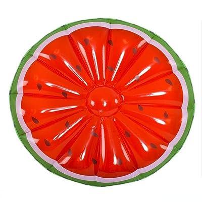 Anneau De Bain Rond De Pastèque Super Gonflable Flottant Flottant Island Fruit Double Flottant Lit De Bain De L'eau Ring