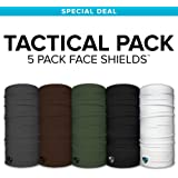 SA CO Official TACTICAL 5 PACK! Face Shields, Perfect for All Outdoor Activities, Protects Face Against the Elements