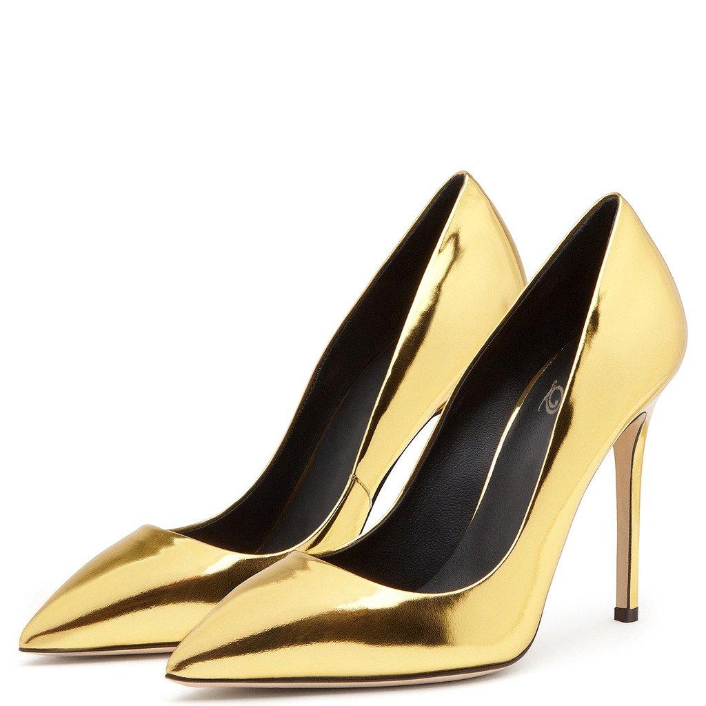 Amy Q - Zapatos de vestir de Material Sintético para mujer 35 EU dorado