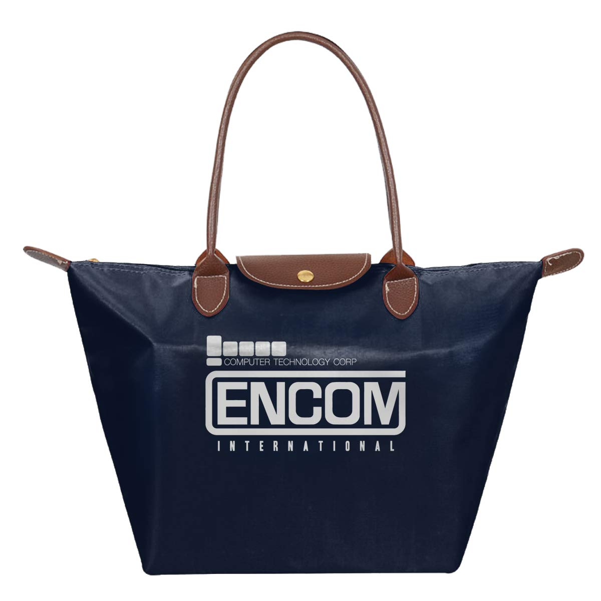 ENCOM International Inspired By Tron Flynns Retro Arcade Waterproof Leather Folded Messenger Nylon Bag Travel Tote Hopping Folding School Handbags