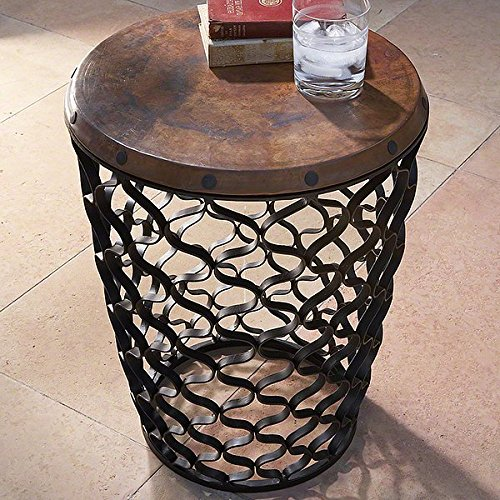Global Views Small Arabesque Table Copper Top