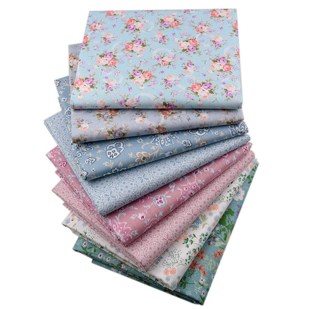 Vintage Floral Fat Quarters Fabric Bundles, Precut Quilting Fabric for Sewing,18''x22''