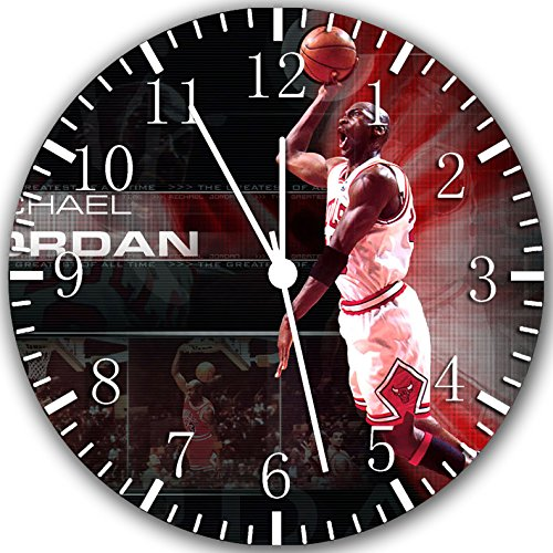 Jordan Frameless Borderless Wall Clock W312 Nice for Gift or Room Wall Decor (Jordan Wall Clock)