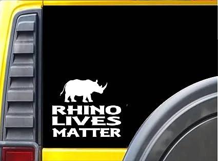 Amazon com: Rhino Lives Matter Sticker k117 6 inch zoo