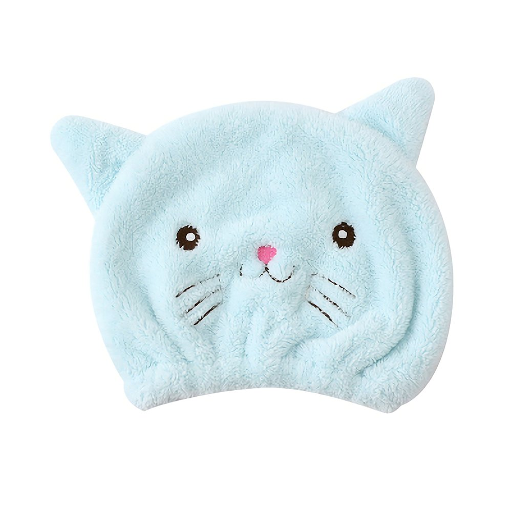 Gifts Treat Kids Hair Drying Wrap Towel Kids Hair Drying Turban Lovely Absorbent Hair Drying Wrap blue stripes