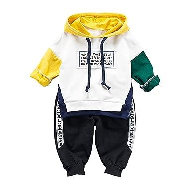 183673a934725 Survêtement de Sport de bébé garçon vêtements Ensemble Sweat à Capuche à  Manches Longues et Pantalon 2 pièces Tenue  Amazon.fr  Vêtements et  accessoires