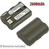Kastar Battery (2-Pack) for Canon BP-511, BP-511A work with Canon EOS 5D, 10D, 20D, 20Da, 30D, 40D, 50D, 300D, D30, D60, Rebel, PowerShot G1, G2, G3, G3X, G5, G6, Pro 1, Pro 90, Pro 90 IS, FV10, FV100, FV2, FV20, FV200, FV30, FV300, FV40, FV400, FV50, FVM1, FVM10, Optura 10, Optura 100MC, Optura 20, Optura 200MC, Optura 50MC, Optura Pi, Optura Xi, PV130, ZR10, ZR20, ZR25, ZR25MC, ZR30, ZR30MC, ZR40, ZR45MC, ZR50MC, ZR60, ZR65MC, ZR70MC, ZR80, ZR85, ZR90